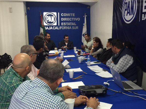 Coordinarán esfuerzos CDE y CDM para consolidar a la estructura del PAN en el municipio de La Paz.