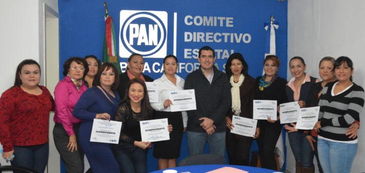 PAN BCS entrega nombramiento a coordinadoras para la Promoción Política de las Mujeres