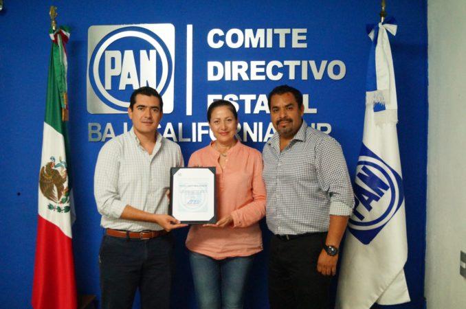 PAN BCS nombra a Arely Arce, coordinadora de alcaldes panistas en Baja California Sur.