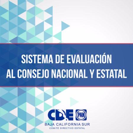 Sistema de Evaluación al Consejo Nacional y Estatal
