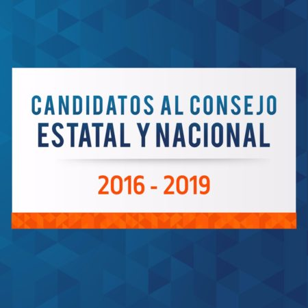 Relación de candidatos al Consejo Estatal y Nacional