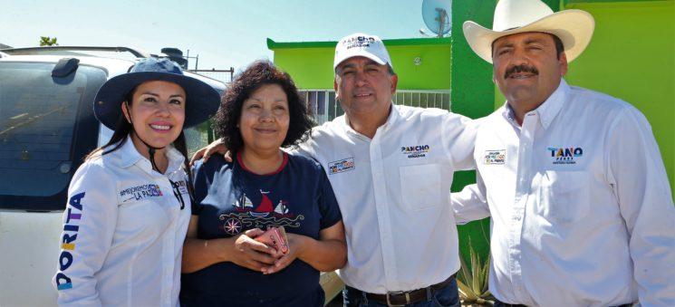 Vamos a trabajar en apoyo a los empleos y para mejorar  Infraestructura en  las colonias de La Paz: Pelayo