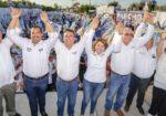 Abarrotan candidatos del PAN Cierres de campaña, Lupita Saldaña agradece