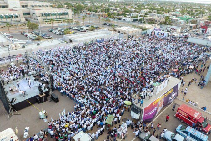 Miles de ciudadanos dieron su respaldo a los candidatos del PAN en el municipio de La Paz