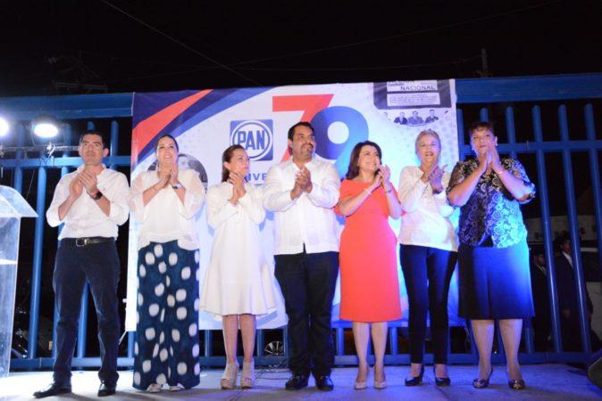 Celebra el PAN 79 años de fundación con la presencia de Josefina Vázquez Mota.