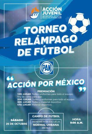 """Convocatoria torneo de futbol """"Acción Por México"""""""
