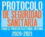 MANUAL PROTOCOLO DE SEGURIDAD SANITARIA PROCESO INTERNO 2020 2021
