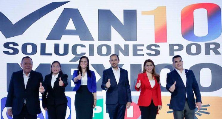 PAN, PRI, PRD Y SOCIEDAD CIVIL PRESENTAN 10 SOLUCIONES POR MÉXICO