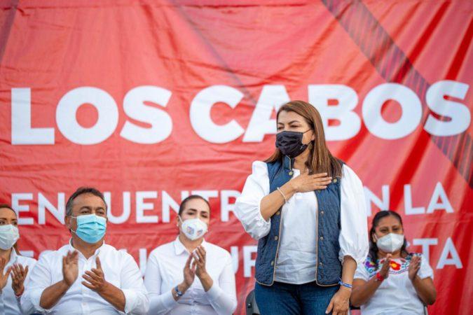 La gente de Los Cabos no ocupa gobiernos de cuarta: Lupita Saldaña