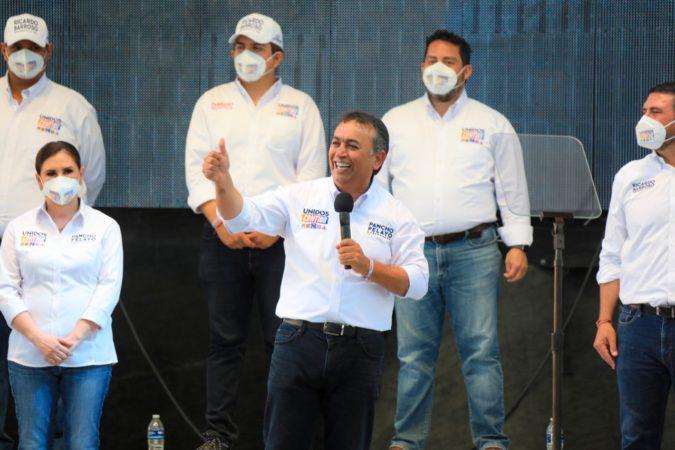 Aventaja Pancho Pelayo con 11 puntos la contienda electoral: Unidos Contigo